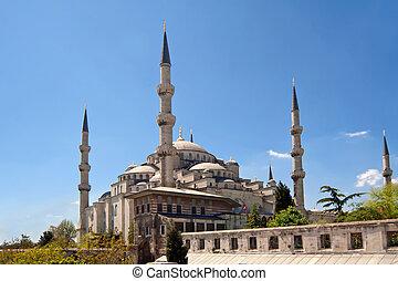 mešita, do, istanbul, turecko