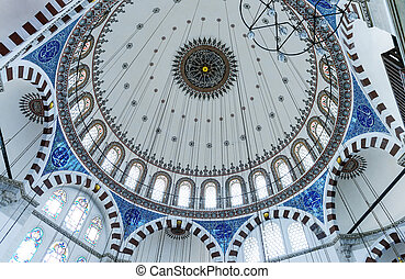 mešita, vnitřní, istanbul
