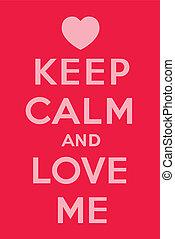 me, amore, calma, custodire