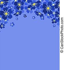 me, blu, vettore, fiori, non, dimenticare