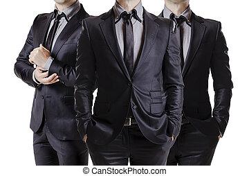 me, business, image, trois, haut fin