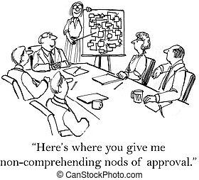 me, dare, nods, approvazione, lei, dove, here's