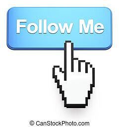 me, hand-shaped, bottone, cursore, premere, seguire, topo
