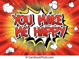 me, lei, fare, felice
