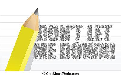 me, non faccia, scritto, permettere, giù, messaggio