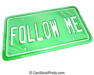 me, plaque, licence, projection, manière, suivre, éditorial