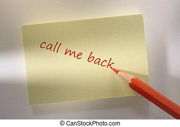 me, promemoria, chiamata, indietro, marcato