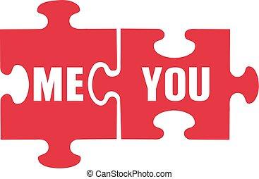 me, puzzle, vous