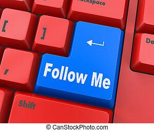 me, seguire, bottone