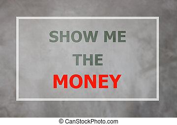 me, soldi, citazione, inspirational, mostra