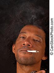 me, spliff, excuse, fumée, mon, si