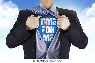 me, suo, camicia, esposizione, sotto, parole, tempo, uomo affari