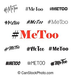 Me too hashtag text vector overlays - Hashtag Me too vector...