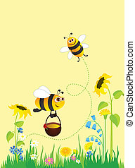 Meadow and bees