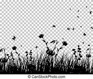 Meadow And Butterflies