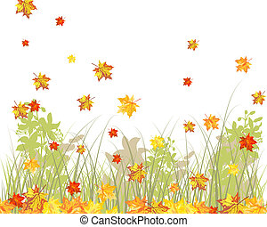 Meadow autumn background