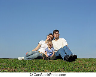 meadow., familie, son.