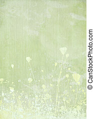 Meadow flower pale green background