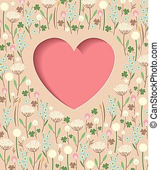 Meadow flowers heart