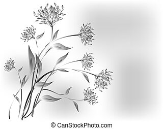 Meadow flowers on a grey base. EPS10 vector illustration.
