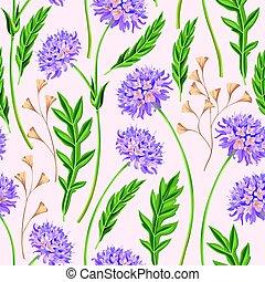 Meadow flowers seamless
