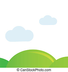 Meadow isolated on white vector background