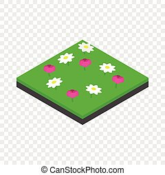 Meadow landscape isometric icon