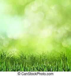 meadow., naturel, résumé, arrière-plans, conception, ton