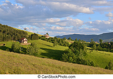 Meadows, Hills and Village Houses