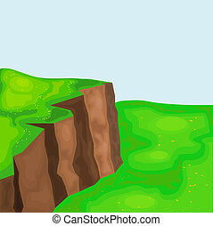 meadows., klippen, eps10, landschaftsbild