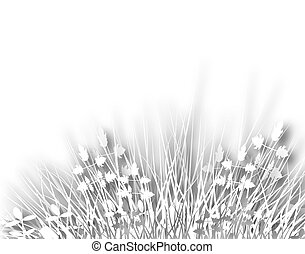 Meadowy - Illustration of grassy vegetation with copy-space