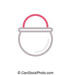 meal color line icon
