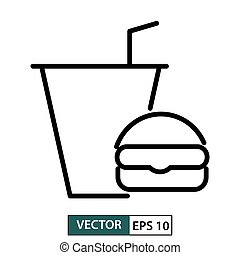 Meal icon, symbol, flat design isolated on white. Vector illustration EPS 10