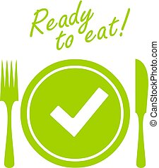 Meal ready to eat vector icon