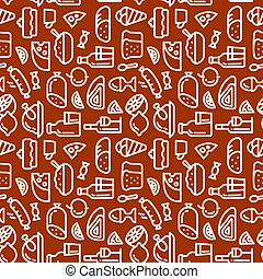 meal seamless pattern