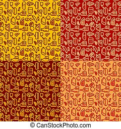 meal seamless patterns