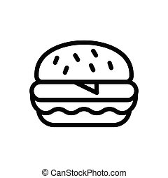 meal  thin line icon
