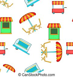 Meals on wheels pattern, cartoon style
