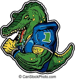 alligator football player