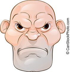 Mean Angry Cartoon Man - A rather mean looking tough...
