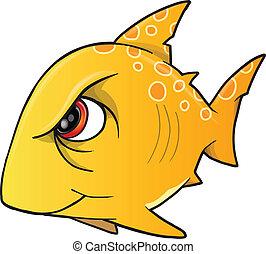 Mean Angry Shark Vector Art - Mean Angry Shark Vector ...