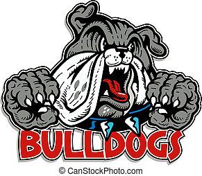 mean barking bulldog