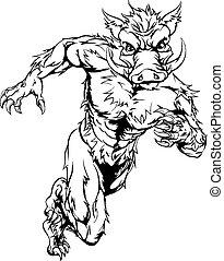 Mean boar character - An illustration of a boar sports ...