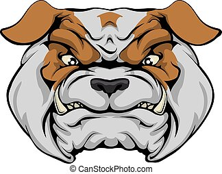 Mean Bulldog - A mean bulldog dog character or sports mascot...