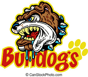 mean bulldog mascot