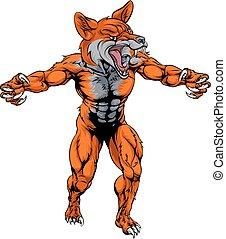 Mean fox sports mascot