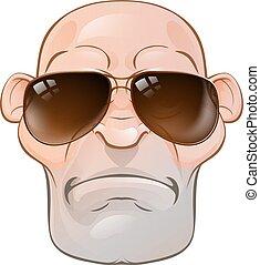Mean Tough Cartoon Man