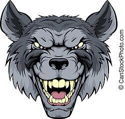 Mean Wolf Mascot