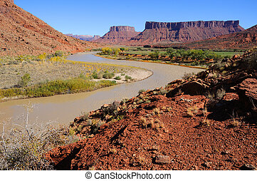 Meander in Colorado River near Desert Resort