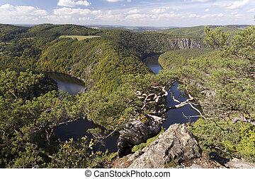 Beautiful meander of vltava river - Czech Republic